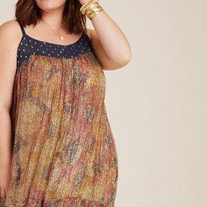 Anthropologie Nadine Shimmer Midi Dress by Raga